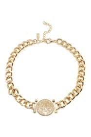 Savvy Cie 18K Yellow Gold Plated Coin Pendant Chai