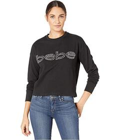 Bebe French Terry Graphic Top