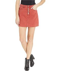 Paige Aideen Skirt w\u002F Exposed Button Fly in V