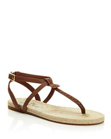 Jack Rogers - Women's Evie Leather Flat Thong Sand
