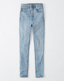 Ultra High Rise Super Skinny Jeans, LIGHT WASH