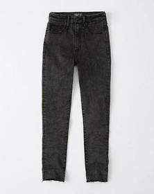 Curve Love High Rise Super Skinny Ankle Jeans, WAS