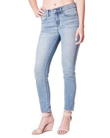 Nicole Miller High-Rise Skinny-Leg Jeans with Crys