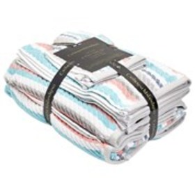 CATHERINE MALANDRINO 6 Piece Striped Towel Set