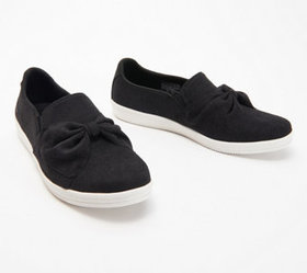 """As Is"" Skechers Jersey Bow Slip On Shoes - Madiso"