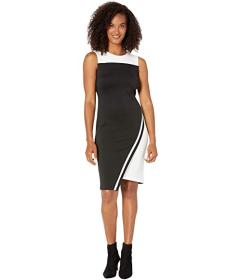 Tommy Hilfiger Asymmetrical Hem Sheath