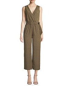 JONES NEW YORK Geometric-Print Cropped Jumpsuit AR