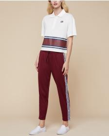 Juicy Couture JXJC Striped Polo Top