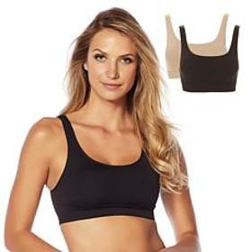 """As Is"" Yummie Seamless Scoop-Neck Bra 2-pack"