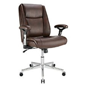Realspace Densey Bonded Leather Mid Back