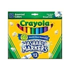 Crayola Ultra-Clean Washable Markers, Broad Line,
