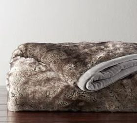 Pottery Barn Ombre Tipped Faux Fur Throw