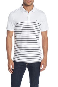 Calvin Klein Engineered Stripe Short Sleeve Polo