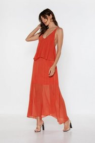 Nasty Gal Womens Orange For So Long Now Strappy Ma