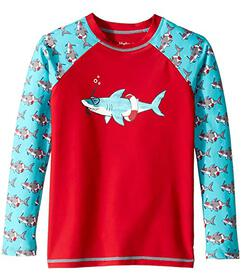 Hatley Kids Snorkeling Sharks Long Sleeve Rashguar