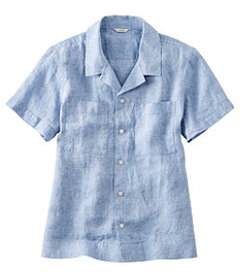 LL Bean Premium Washable Linen Camp Shirt, Short-S