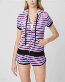 Juicy Couture SUMMER STRIPE VELOUR TRACK SHORT SLE