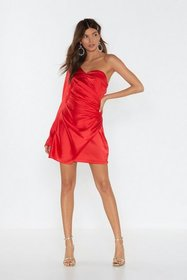 Nasty Gal Womens Red Dancing On My Own One Shoulde