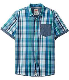 Levi's® Kids Short Sleeve Button-Up Shirt (Bi