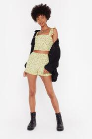 Nasty Gal Womens Yellow Days of Flower Lives Flora