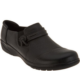Clarks Collection Leather Slip-on Shoes - Cheyn Ma