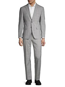 Calvin Klein Slim-Fit Tonal Windowpane Suit GREY
