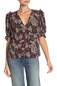 Joie Anevy Floral Puff Sleeve Top