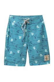 Lucky Brand Surfing Bear Boardshorts (Big Boys)