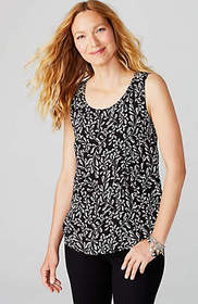 Sketched-Ferns Sleeveless Top