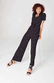 Layered Tie-Front Jumpsuit