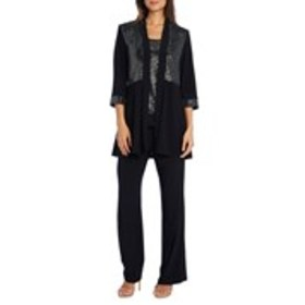 Metallic 2-Piece Pant Suit