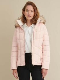 Marc New York Faux-Fur Trim Hooded Puffer