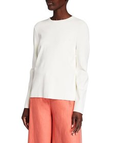Valentino Long-Sleeve Lace-Back Top