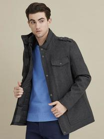 Designer Brand FOUR POCKET WOOL HIPSTER COAT
