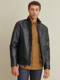 Designer Brand Faux-Fur Lined Faux-Leather Jacket