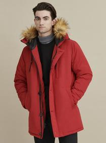 Hooded Button Parka