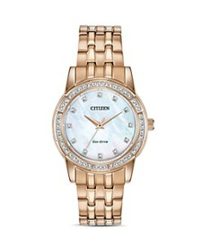 Citizen - Silhouette Crystal-Embellished Rose Gold