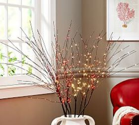 Pottery Barn LED Firework Branch - Red