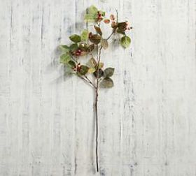 Pottery Barn Faux Rose Hips Branch