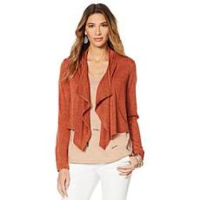 """As Is"" G by Giuliana Drape-Front Cardigan"