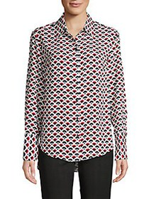 JONES NEW YORK Scallop-Print Shirt SCALLOP PRINT
