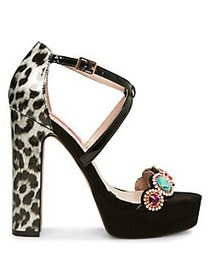 Betsey Johnson Sainte Embellished Pumps BLACK MULT