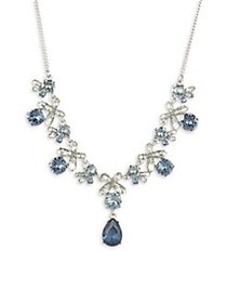 Givenchy Rhodium-plated and Crystal Frontal Neckla