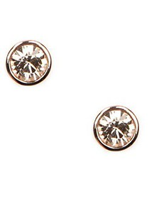 Givenchy Rose Goldplated Crystal Stud Earrings GOL