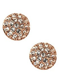 Givenchy Rose Goldplated and Crystal Button Stud E