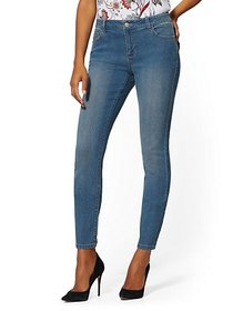 Mid-Rise Essential Skinny Jeans - Razor Blue - New
