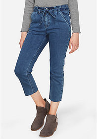 Justice Belted High Rise Straight Ankle Jean