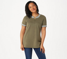 """As Is"" Denim & Co. Active French Terry Tunic with"
