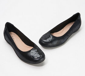 Clarks Collection Leather or Suede Flats - Graceli