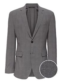 Slim Smart-Weight Performance Seersucker Suit Jack